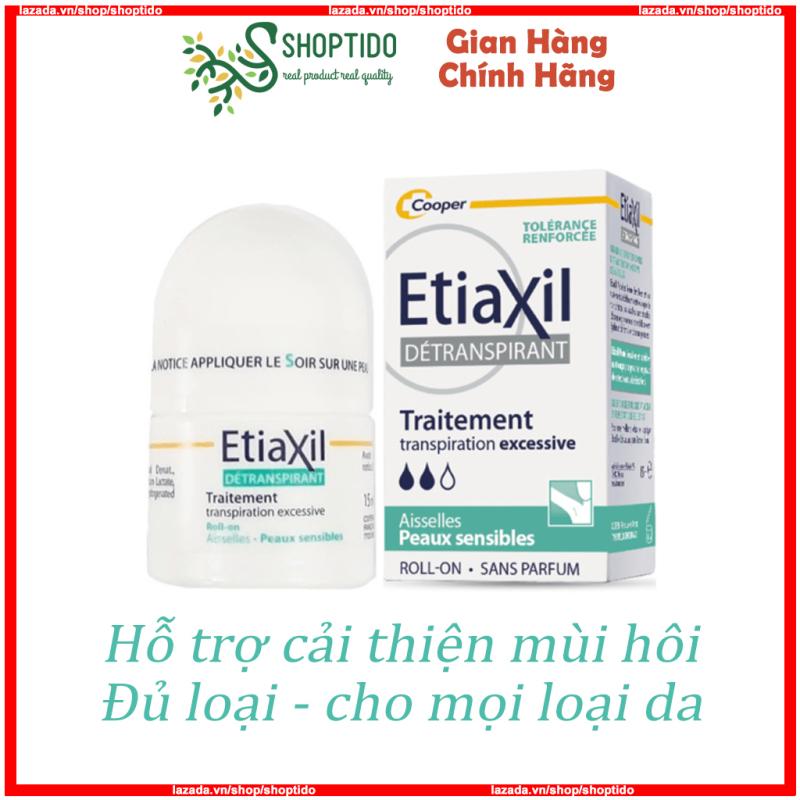 Lăn khử mùi Etiaxil của Pháp 15ml nhiều loại dành cho mọi loại da NPP Shoptido cao cấp