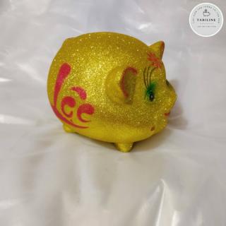 Lợn đất tiết kiệm đựng tiền size NHỠ VIP KIM TUYẾN VÀNG cute đẹp giá rẻ TABILINE LD11 4