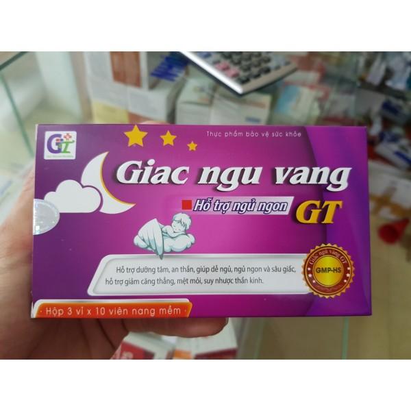 Giấc ngủ vàng GT-Cải thiện tình trạng mất ngủ,Tăng cường tuần hoàn não, dưỡng tâm an thần, tạo giấc ngủ sâu và tự nhiên