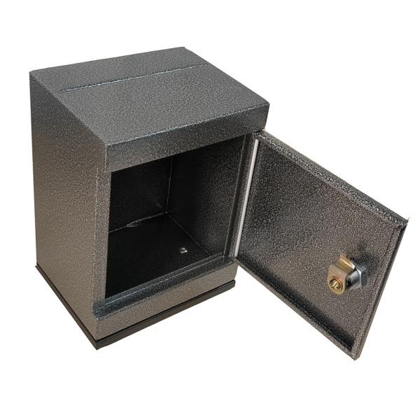 Két sắt mini khoá chìa tiết kiệm màu đen vân đá lớn/nhỏ
