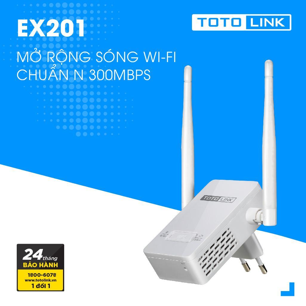 Mở rộng sóng Wi-Fi chuẩn N 300Mbps - EX201 - TOTOLINK