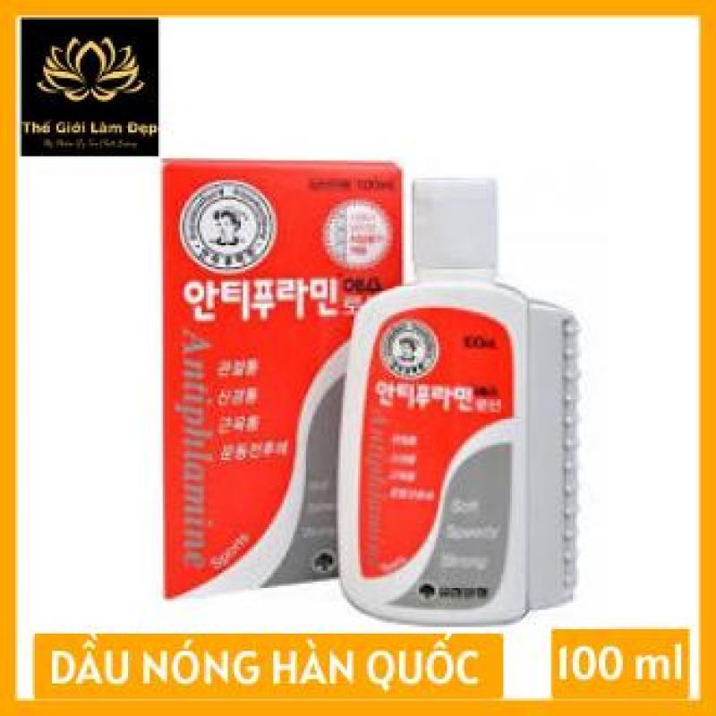 Dầu nóng Hàn Quốc Antiphlamine - Xoa bóp nhức mỏi 100ml