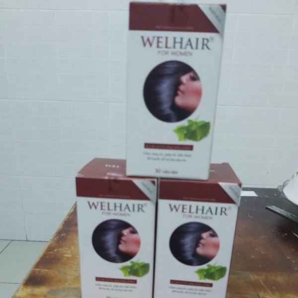 Viên Uống Giảm Rụng Tóc Và Làm Đen Tóc Cho Nữ Welhair