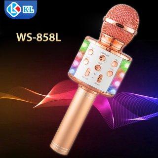 Hot Hot Giảm giá 50%, Mic Hát karaoke kết nối Bluetooth không dây WS-858L, Đèn Led nháy theo nhạc âm thanh sống động, hát mọi luc mọi nơi thumbnail