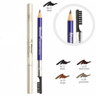 Chì vẽ chân mày Aroma Eyebrow Pencil No.11 Black 2g (Đen) thumbnail