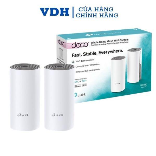 Bảng giá Hệ thống wifi mesh cho toàn ngôi nhà AC1200 Deco E4 (2-pack),mesh wifi chính hãng Tplink,VDH STORE Phong Vũ