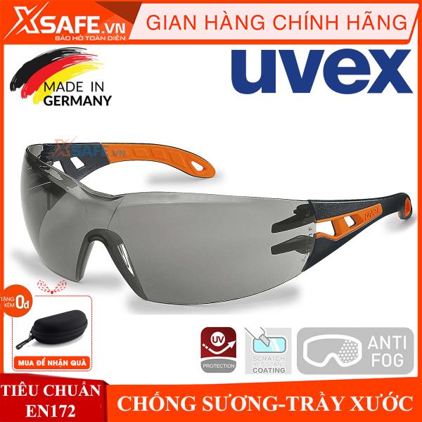 Kính bảo hộ UVEX PHEOS 9192245 kính chống bụi, chống hơi nước, trầy xước vượt trội, ngăn chặn tia UV, mắt kính đi xe máy, lao động, phòng dịch, (màu trà) chính hãng [XSAFE] [XTOOLS]