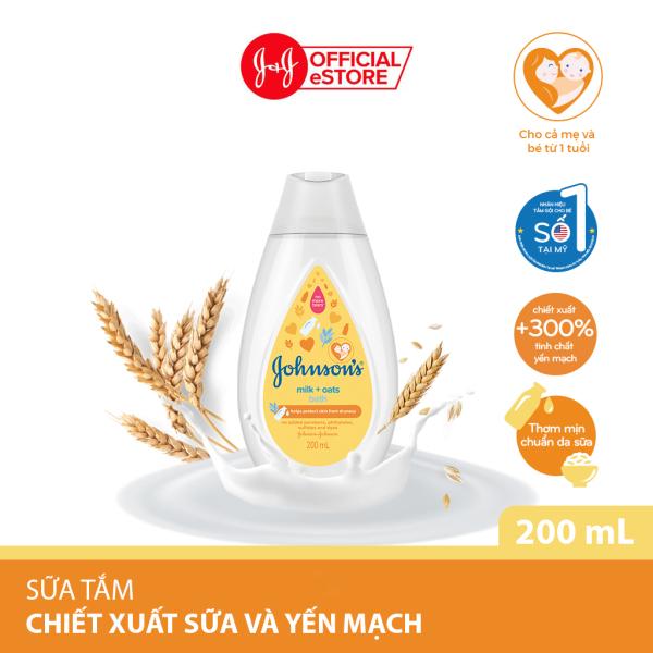[Quà tặng không bán] Sữa tắm Johnsons chứa sữa và yến mạch 200ml - 210083873