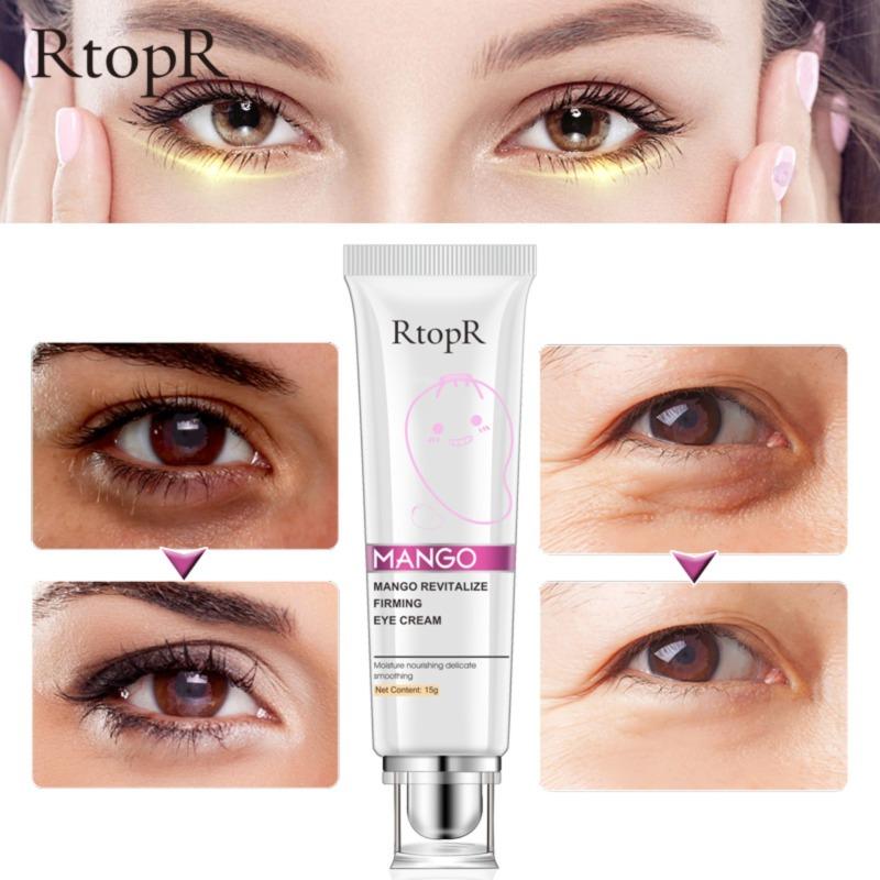 RtopR Mango Anti Winkles Eye Cream Skin Care Anti-Puffiness Dark Circle Anti-Aging Moisturizing Eyes Creams Firming Facial Eye Skin