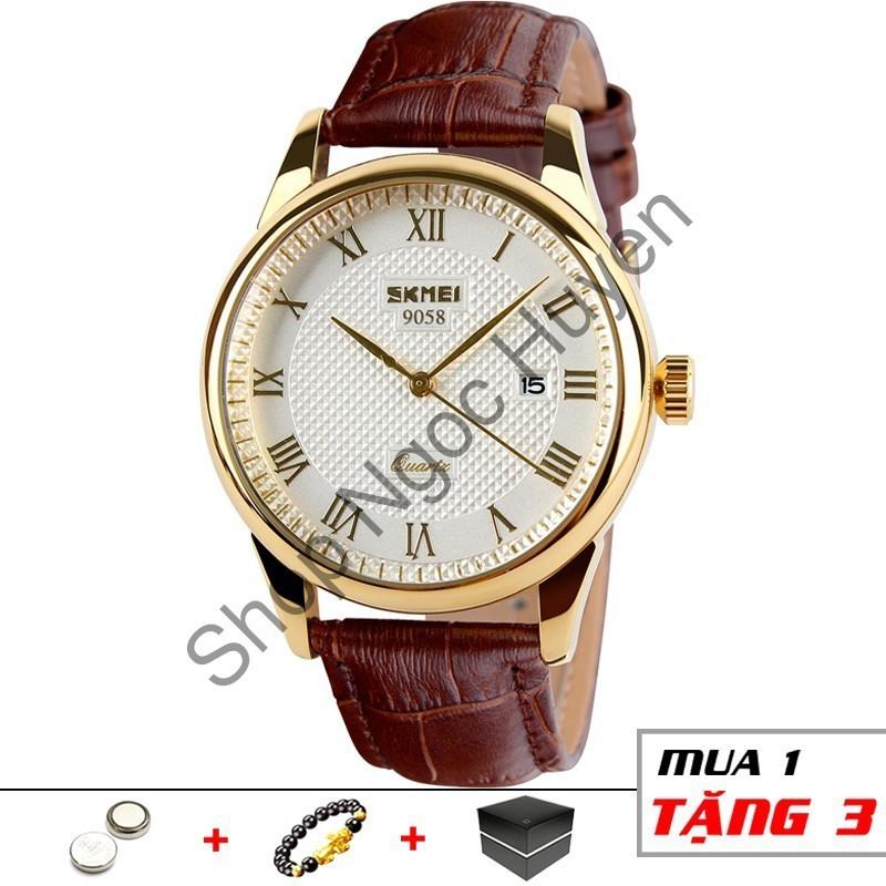 Đồng hồ nam chính hãng dây da cao cấp chống nước SKMEI SM21 - Shop Ngọc Huyền