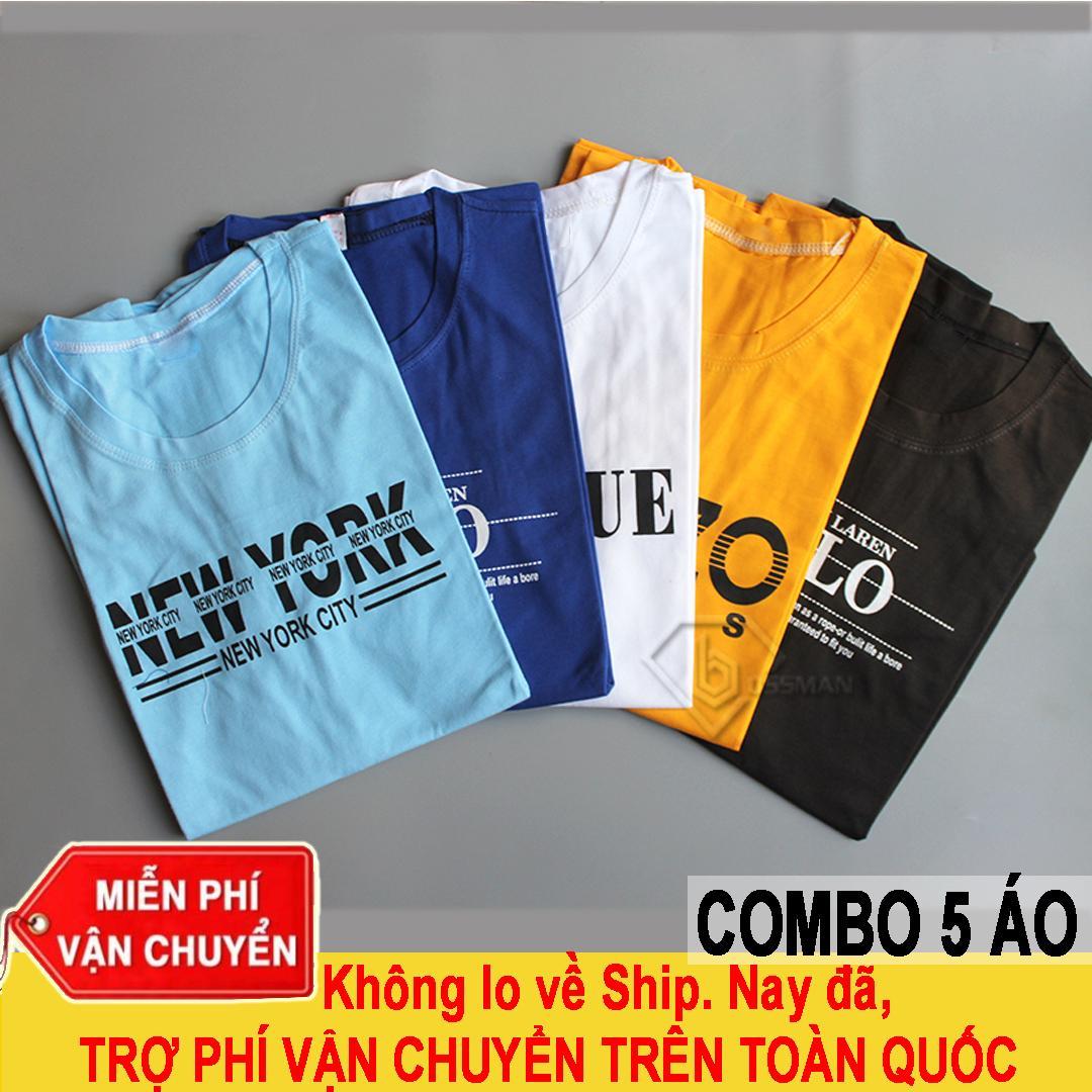 Bộ 5 áo Thun Nam Cotton BM06 Màu Ngẫu Nhiên, Chất Liệu Cao Cấp, Thiết Kế Thời Trang, Mặc Khi đi Học, đi Làm Giảm Duy Nhất Hôm Nay