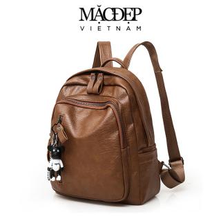 MACRDEP - Ba lô nữ One Zipper at Back da mềm phù hợp đi học và đi du lịch thumbnail