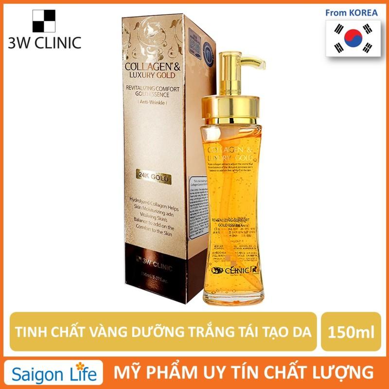 Tinh Chất Vàng Dưỡng Trắng, Tái Tạo Da 3W Clinic Collagen &  Luxury Gold 150ml giá rẻ