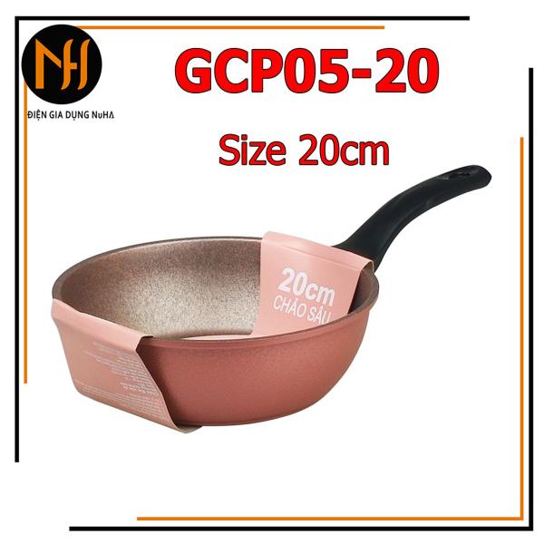 Chảo chống dính đúc vân đá đáy từ dày 7 lớp Green cook CGP05-20 size 20cm siêu dày đẹp