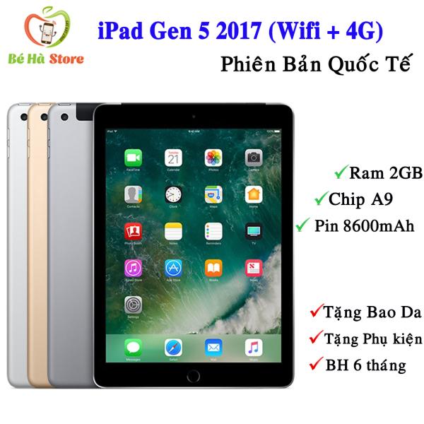 Máy Tính Bảng iPad Gen 5 - 2017 32Gb Bản (4G + Wifi) Quốc Tế Zin Đẹp 99% - Màn 9.7 Siêu Đẹp / Ram 2Gb / Chip A9 2 nhân