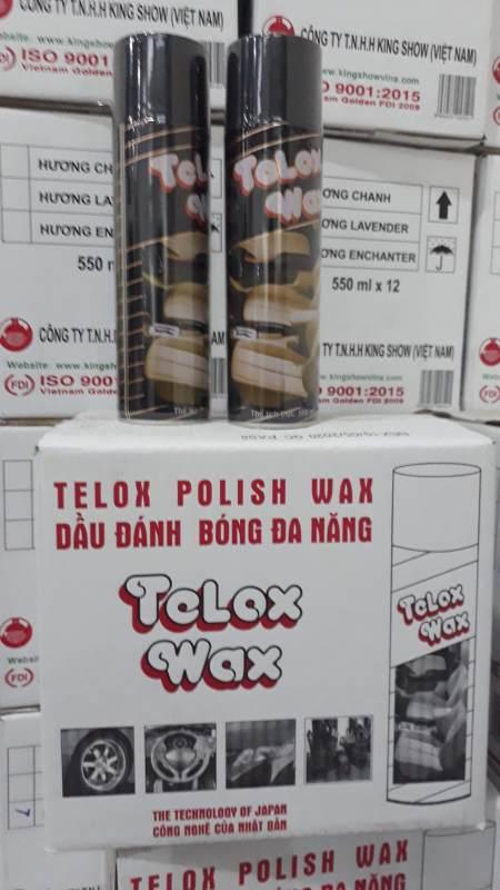 Combo 2 chai xịt bóng Telox Wax 550ml
