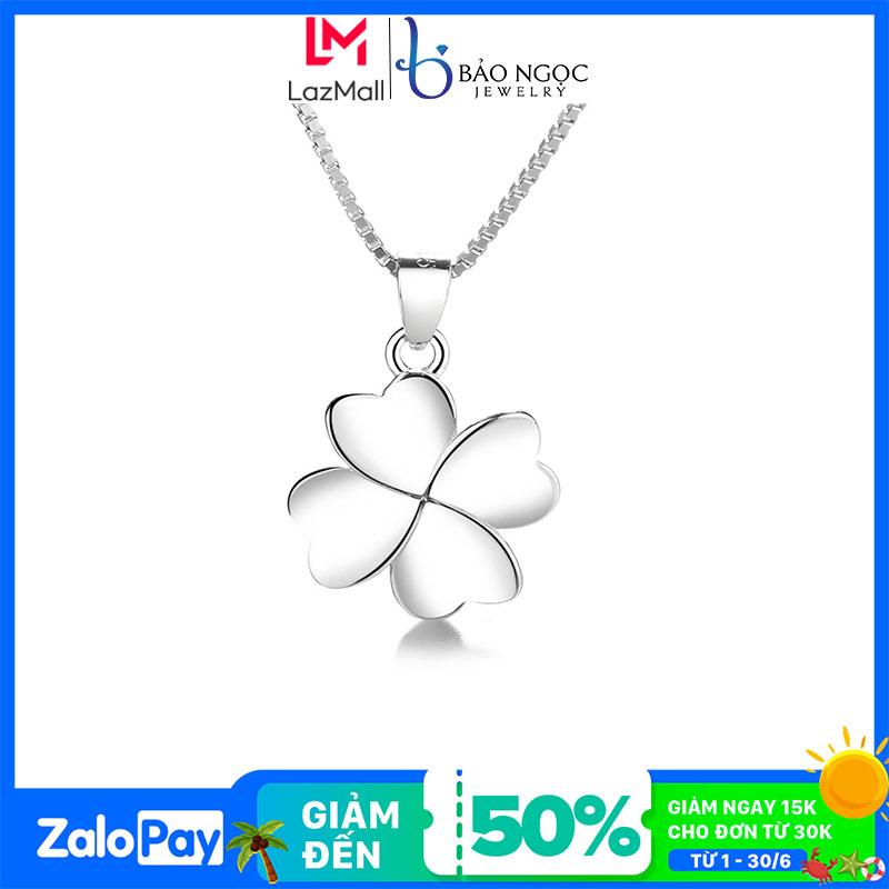Dây chuyền bạc   Dây chuyền bạc nữ S925 thiết kế cỏ 4 lá may mắn dành cho nữ M2571- Bảo Ngọc Jewelry