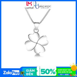 Dây chuyền bạc Dây chuyền bạc nữ S925 thiết kế cỏ 4 lá may mắn dành cho nữ M2571- Bảo Ngọc Jewelry thumbnail