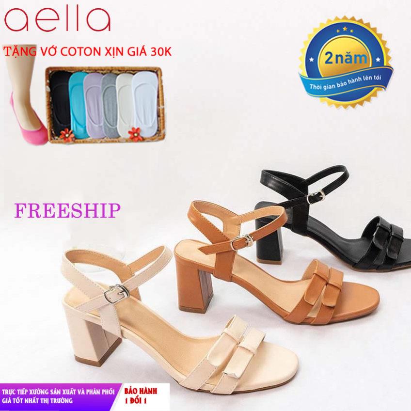 Giày cao gót nữ gót vuông 5cm AELLA AE201 - Dáng công sở - Giày cao gót đế vuông giá rẻ