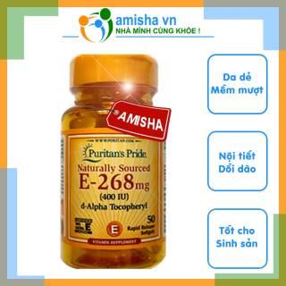 Viên Uống Vitamin E 400IU E-268 100% Natural-50 Softgels Puritan s Pride - Mỹ thumbnail