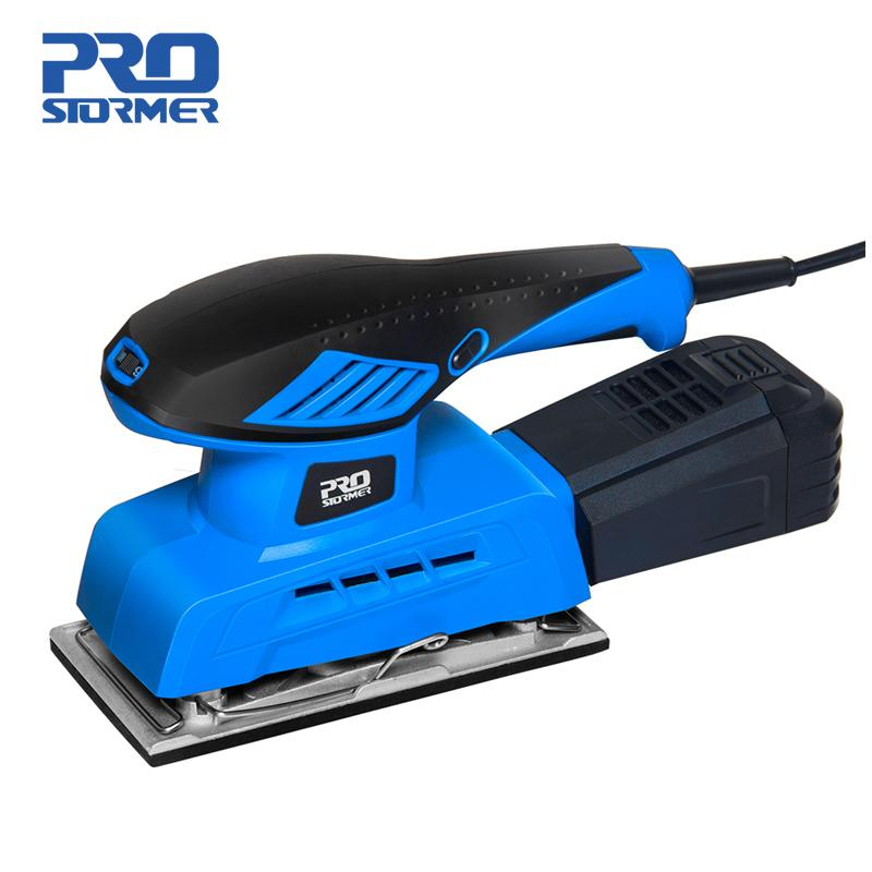 PROSTORMER 240W Electric Random Orbital Sander Sheet Finishing Sander 7 Variable Speed 230V Dust Collection Electric Sander Polisher Woodworking Tool Dust Collection 20Pcs 90x187mm Sandpapers