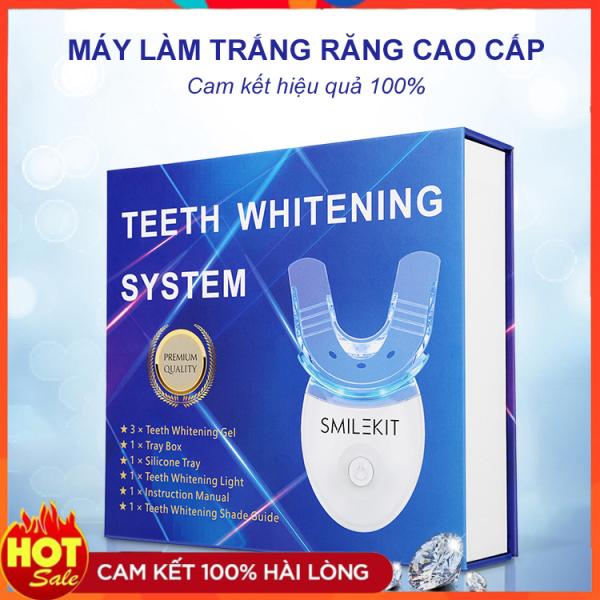 Máy làm trắng răng tại nhà Smile Kit cực hot 2021 - dòng máy làm trắng răng hiệu quả, tẩy trắng răng tại nhà cực đơn giản, hết ố vàng, răng trắng sáng tự nhiên - Cam kết hoàn tiền 100% nếu không hiệu quả