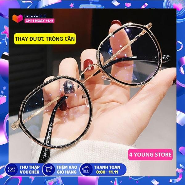 Giá bán Kính giả cận thời trang mắt tròn phong cách Hàn Quốc xu hướng mới 2020 - Kính không độ Unisex 044