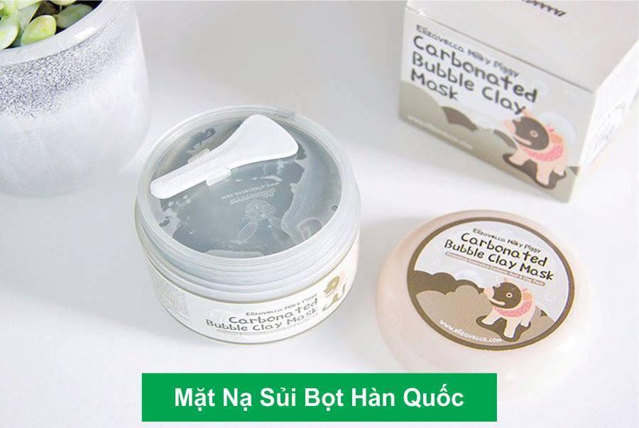 Mặt Nạ Sủi Bọt Hàn Quốc Elizavecca Carbonated Bubble Clay Mask 100ml-Mặt nạ sủi bọt,kem dưỡng da Hàn Quốc,Mặt nạ thải độc