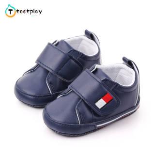 Tootplay 1 Đôi Giày Em Bé, Giày Tập Đi Thể Thao Nhiều Màu Đế Mềm Pu Cho Bé 3-12 Tháng Tuổi