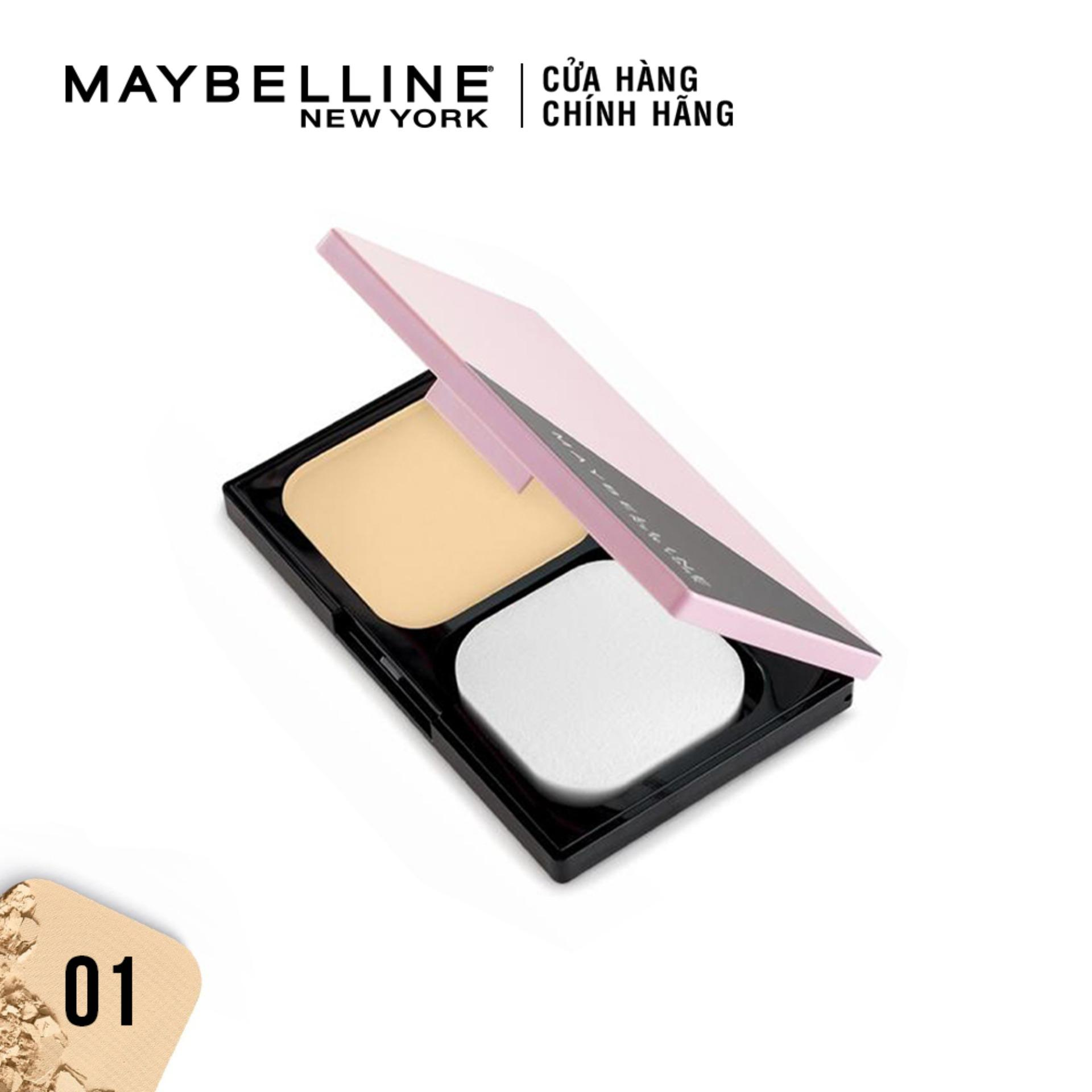 Phấn phủ kiềm dầu siêu mịn 5 trong 1 Clear Smooth All In One Powder Foundation Maybelline New York 9g