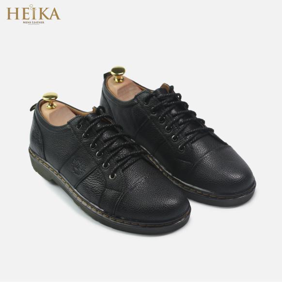 Giày đốc nam cổ ngắn da bò thật cao cấp HEIKA207- Tặng kèm lót giày da giá rẻ