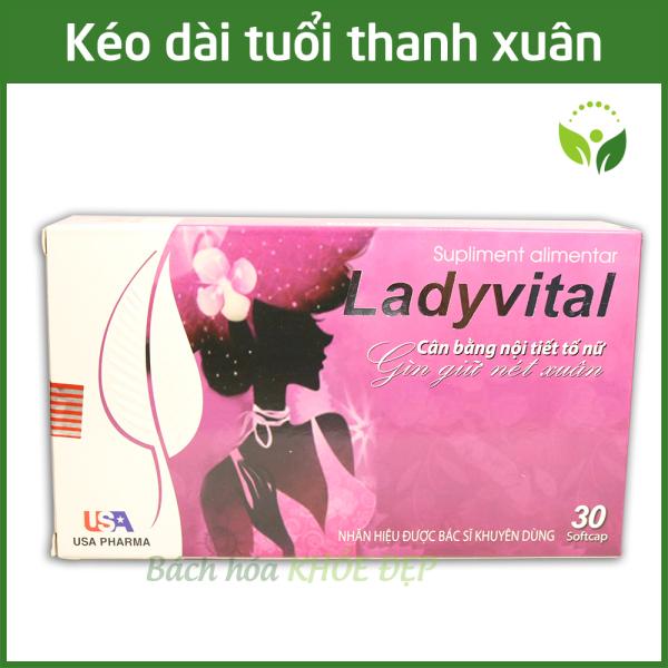 Viên uống cân bằng nội tiết tố nữ Ladyvital làm đẹp da chống lão hóa, giảm căng thẳng stress - Hộp 30 viên giá rẻ