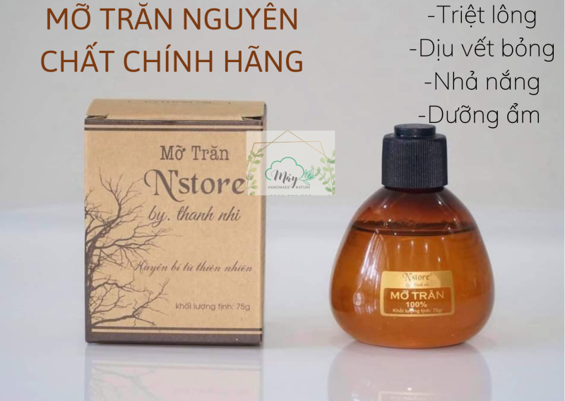 Mỡ trăn nguyên chất Nstore by Thanh Nhi, Mỡ trăn triệt lông_75g