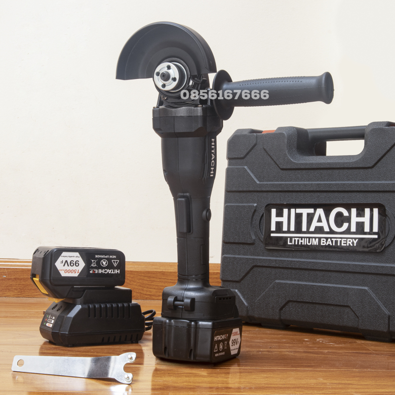 Máy mài pin HITACHI không chổi than - Pin chuẩn 10 CELL - Máy mài góc dùng pin - Máy đánh bóng cầm tay - máy chà nhám - máy mài chuyên dụng - Máy cắt sắt dùng pin - MÁY MÀI PIN