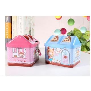 Két Sắt Mini Hình Nhà Cho Bé - Màu hồng thumbnail