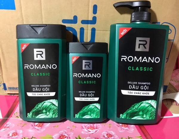 Dầu Gội hương nước hoa Romano Classic 650ml/380ml/180ml nhập khẩu