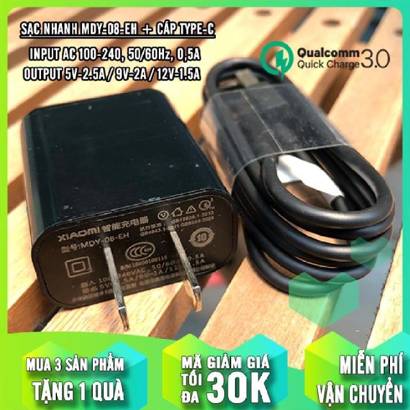 Củ sạc nhanh Quick Charge 3.0 MI MDY-08-EH + Cáp Micro 2A (1M)