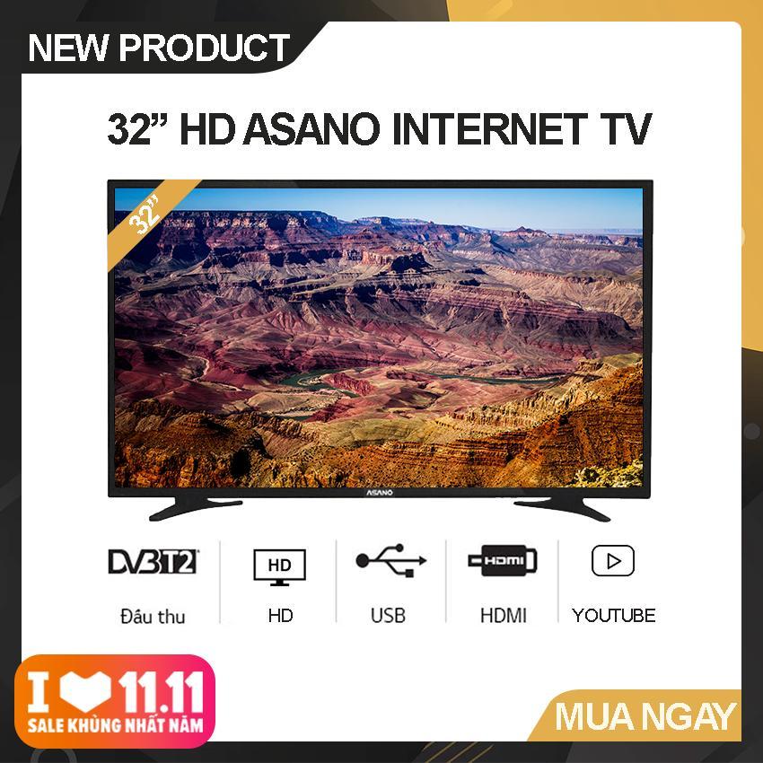 Bảng giá Internet Tivi Asano 32 inch HD - Model 32EK2 (Đen) Độ phân giải HD Ready, Xem Youtube, Tích hợp DVB-T2 - Bảo Hành 2 Năm