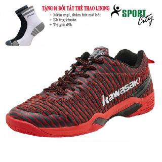 Giày cầu lông nam nữ Kawasaki K525 mẫu mới màu đỏ - giay the thao nam nu- giày chơi cầu lông - sportcity thumbnail
