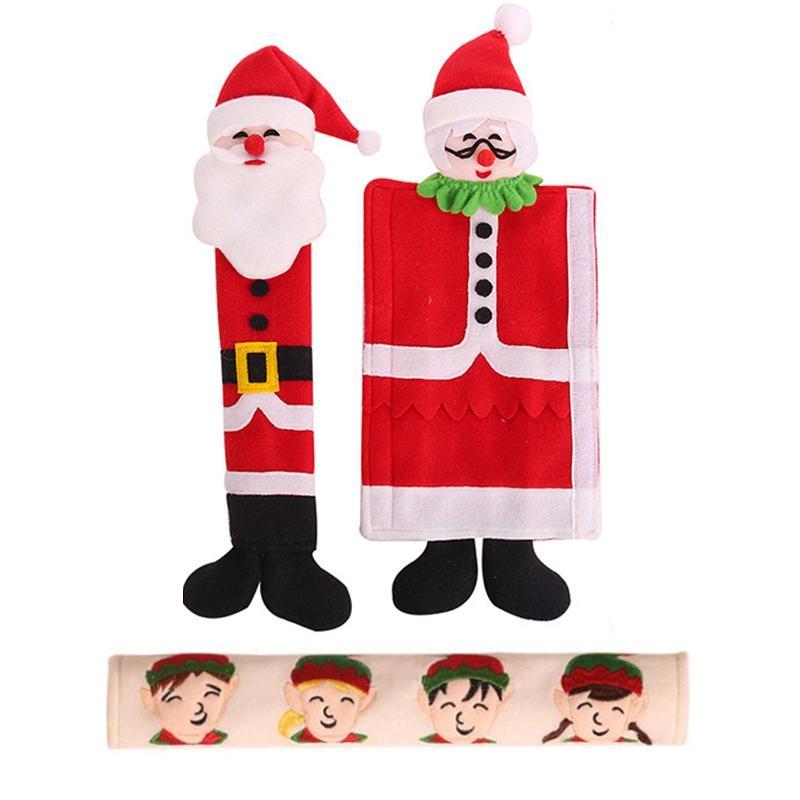 Bảng giá Christmas Decoration Refrigerator Door Handle Covers Cute Microwave Door Refrigerator Handle Sets Christmas Decoration