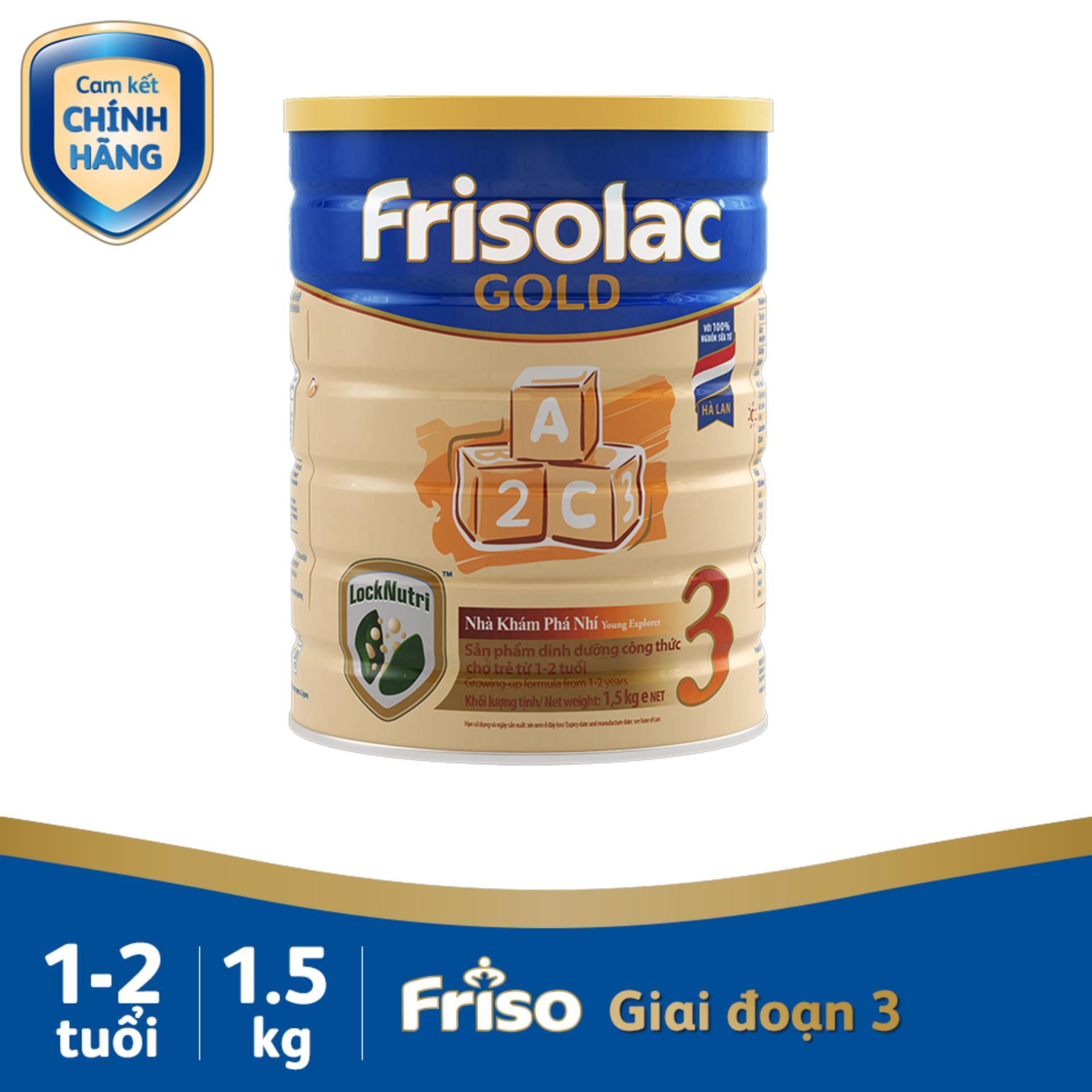 Sữa Bột Friso Gold 3 1500g Chứa Thành Phần Synbiotics Giúp Hỗ Trợ Tiêu Hóa