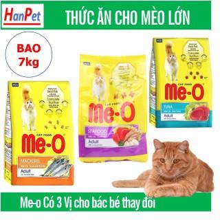Hanpet -Me-o 7kg Thức ăn viên cho mèo lớn - CÁ NGỪ - CÁ THU - HẢI SẢN dạng bao 7kg (gồm 20 gói) thức ăn mèo trưởng thành (trên 1 năm tuổi) thumbnail