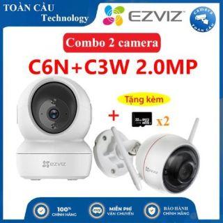 [100% CHÍNH HÃNG] Combo Camera WIFI EZVIZ C6N Độ Phân Giải 2MP + C3W Độ Phân Giải 2MP Tặng Kèm 2 Thẻ Nhớ 32GB - Camera Toàn Cầu thumbnail