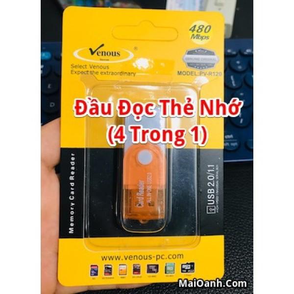 Bảng giá Đầu đọc thẻ nhớ USB 2.0 (4 trong 1) Phong Vũ