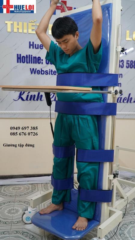 Giường tập đứng phục hồi chức năng cho người bệnh