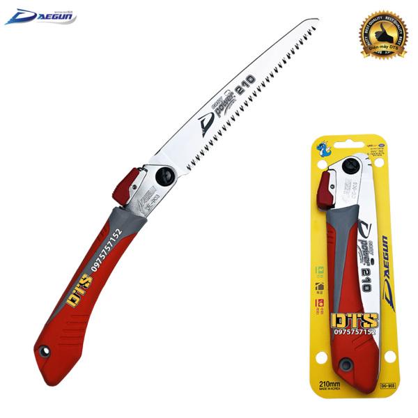 Cưa gỗ cầm tay DAEGUN, cưa cành cán xếp 210mm, cưa gấp gọn thép cao cấp Made in Korea