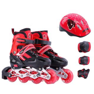Giày Trượt Patin Bánh Cao Su Phát Sáng,Tăng Giảm Size OS + Tặng Kèm Bộ Bảo Hộ (Chân Tay + Mũ Bảo Hiểm) thumbnail