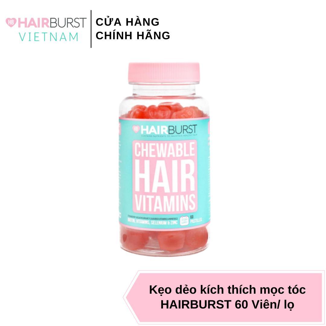 HAIRBURST Việt Nam - Kẹo Nhai Hairburst Chewable Hair Vitamins 5 g × 60 Viên