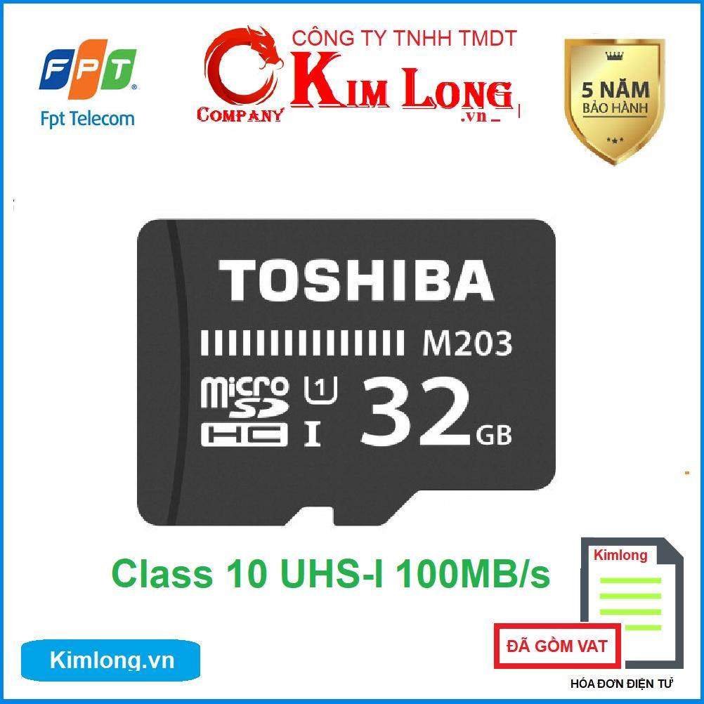 Thẻ nhớ Toshiba 32GB Micro SD Class 10 UHS-I 100MB/s hàng FPT