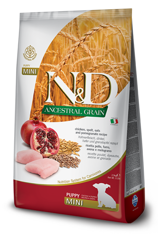 Farmina - N&D ANCESTRAL GRAIN DOG chicken mini puppy 2.5kg